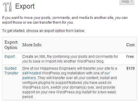 export wordpress ke self hosting