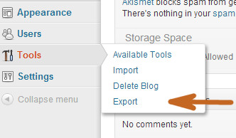 export wordpress.com ke wordpress.org self hosted