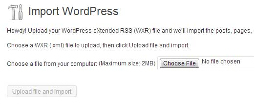 import wordpress to wordpress self hosted